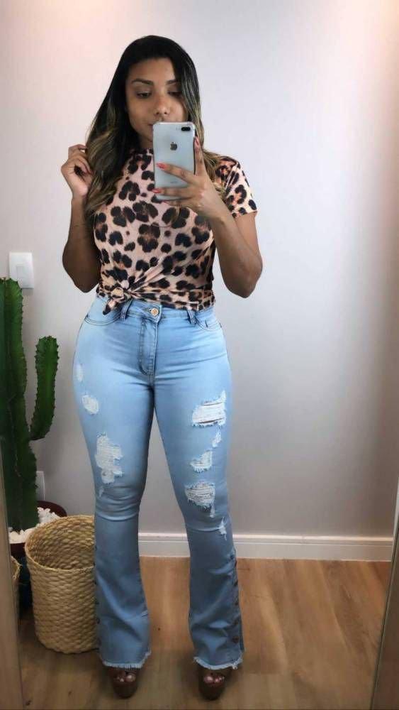 Calça Jeans Carmen Destroyed Flare