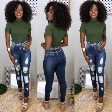 Calça Jeans Destroyed X (Carmen)