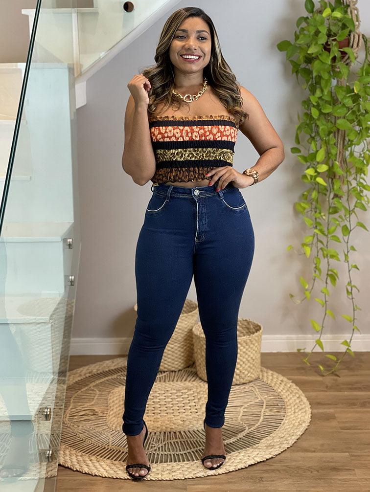 Calça Jeans Cinta Lisa II