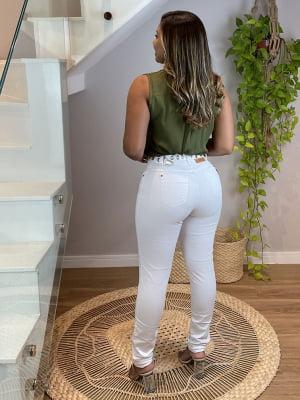 Calça Jeans Branca Mágica