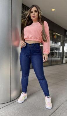 Calça Jeans Cinta Dark