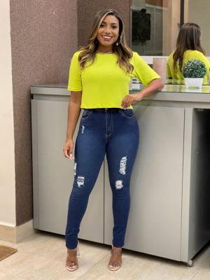 Calça Jeans Rasgos Elisa