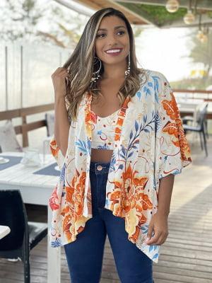 Conjunto Verão (Cropped + Kimono)