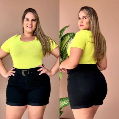 Short Jeans Cintinho Black