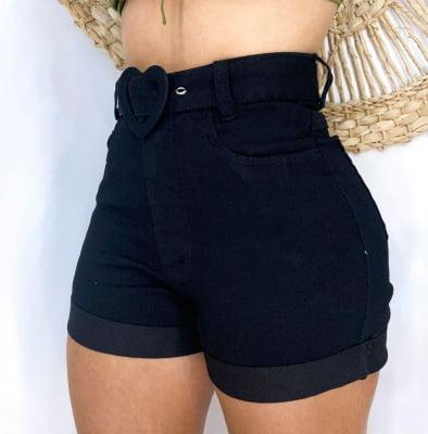 Short Jeans Cintinho Black Heart