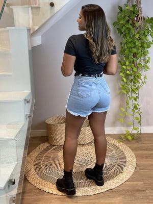 Short Jeans Duo Barra Desfiada