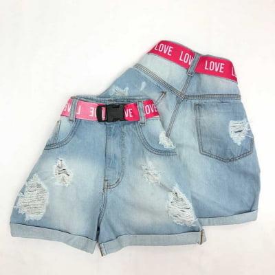 Short Jeans Pink Love