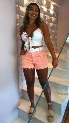 Short Jeans Rosa Luna
