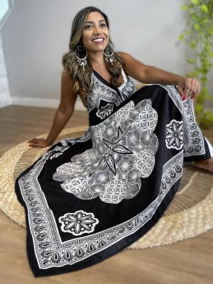 Vestido Indiano Bicolor